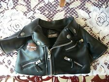 Harley Davidson Bar Shield Boy's Kid's Child's Youth Faux Leather Jacket Age 3