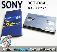 Sony BCT-D64L Digital Betacam Video Cassette 64 minute 382 m / 1253 ft NEW