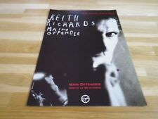 KEITH RICHARD - Publicité / Advert  !!! MAIN OFFENDER !!! VINTAGE 90'S