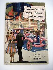 Vintage 1923 Dennison Decorating Booklet for Halls, Booths & Automobiles *