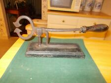 EARLY 1800S LARGE SIZED MOUNTED SUGAR NIPPERS MOUNTED ON A BLOCK OF IRON ALL ORG
