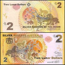 Australia 2 Lunar Dollars, 2016, P-NEW, UNC,Silver Reserve,Moon of Zodiac Monkey