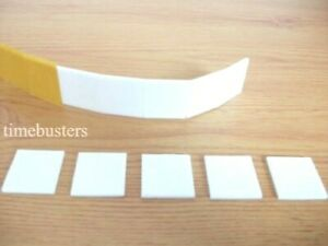 500 Double Sided White Foam Pads/Squares Sticky Fixers 3D Effect 25mm Square