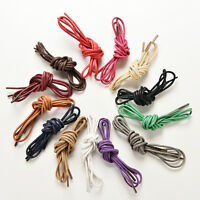 Round Waxed Shoelaces Oxford Dress Canvas Sneaker Shoe Laces Unisex Strings~GG