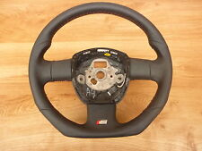S-Line Flattened LEATHER STEERING WHEEL BLACK AUDI A4,S4, RS4,A6,s6.
