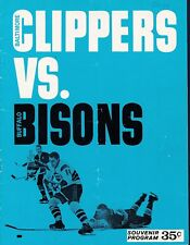 Baltimore Clippers vs Buffalo Bison 1965 AHL hockey program - Jacques Plante