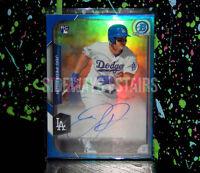 2015 JOC PEDERSON BOWMAN CHROME ROOKIE 13/150 Auto Refractor Dodgers signature