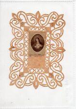 115 Madonna Sacro Cuore -Gesù Doppio Santino smerlettato canivet   Holycard