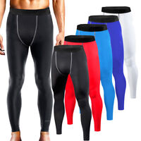Mens Gym Trousers Compression Pants Workout Base Layer Running Tights XS-4XL
