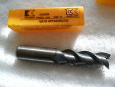 "5/8"" SOLID CARBIDE 3 FLUTE S. END MILL CENTER CUT TIALN COAT BY KENNAMETAL"
