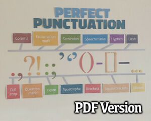 PERFECT PUNCTUATION CLASSROOM WALL DISPLAY ENGLISH / LITERACY