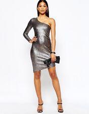 Lipsy Fleur East Sparkly Asymmetric Dress New Sz 12 RRP £58 SALE!!