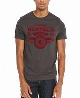 Buffalo David Bitton Mens T-Shirt Gray Size Medium M Tibark Flocked $29 #202