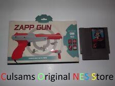 Tomee Zapp Zapper Gun Controller with Nintendo NES HOGAN'S ALLEY & Guarantee