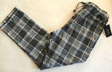 NWT Mens Polo Ralph Lauren Gray White Plaid Flannel Pajama Lounge Pants M