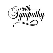 "Darice ""With Sympathy"" Embossing Folder - Condolences Card Stamp"