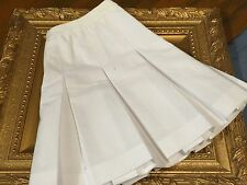 LILY'S OF BEVERLY HILLS PLEATED GOLF TENNIS SKIRT WHITE WOMENS 14 M