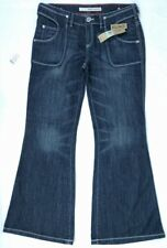 DKNY Soho Flare Boot Cut Blue Denim Jeans Womens Stretch Size 30 Juniors NWT
