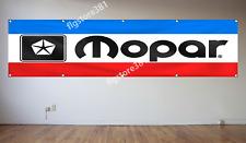 Mopar Banner Flag 2X8ft Dodge Chrysler Plymouth Flag Garage Shop Man Cave Flag