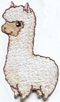 Alpaca animal wildlife llama diy embroidered applique iron-on patch S-1598