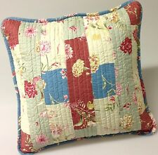 Shabby Chic Throw Cushion Pillow Cover Pink Powder Multi Colours Patchwork 45cm