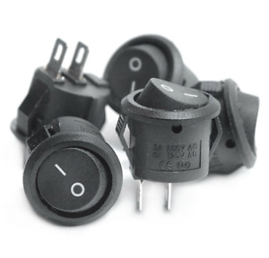 Small Round Rocker Switches 16mm Boat Button Mini 2 Pin ON-OFF Switch. 0137