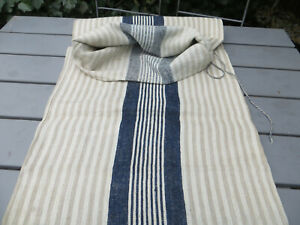"Handwoven Grain Sack Feed Sack Handwoven Linen With Stripes  19 "" by 43 "" US$109"