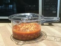 Microwave saucepan with lid non staining
