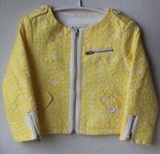 BONPOINT bébé fille veste jaune 3 ans