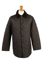 Vintage Barbour Quilted Jacket Mens Lidddesdale Outerwear Size M Brown - C1948