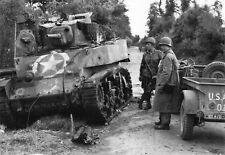 WW2  - CP- Char Stuart du Ltt Anderson détruit au Dead Man's Corner le 7.6.1944