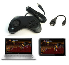 Wired Sega SATURN Gaming OTG USB Controller Gamepad for PC laptop tablet Android
