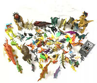 Lot of Assorted Plastic Dinosaur Toy Figures 114 Pcs.  Cake Toppers, Prizes