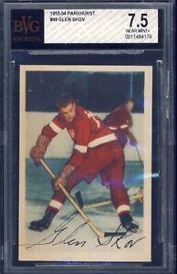 1953 Parkhurst Hockey #48 Glen Skov BVG 7.5