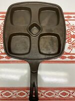 Wagner Ware Square Cast Iron Divided Skillet Eggs Benedict Pan Unmarked