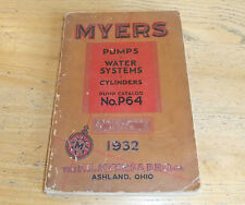 Book: Myers, Ashland, Ohio, Pumps, Water Systems & Cylinders Catalogue 1932