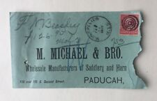1897 Cover M. Michael & Bro. Paducah KY Backstamp Montpelier MIssissippi DPO
