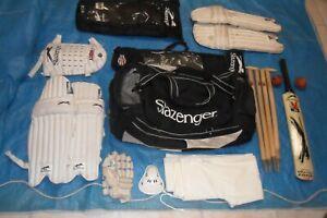 Slazenger Cricket Bag with Pads / Gloves / Bat / Stumps /Trousers