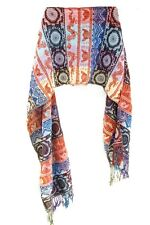 LADIES COLORFUL AZTEC PATTERN INSPIRED WINTER THEME UNIQUE STATEMENT SCARF(MS33)
