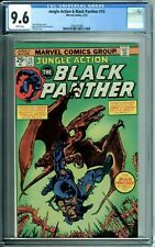 JUNGLE ACTION & BLACK PANTHER 15 CGC 9.6 WHITE PAGES Marvel 1975 NEW CGC CASE