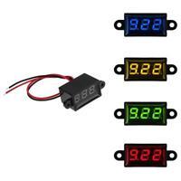 0.28in DC 3-30V LED Panel Voltmeter 3-Digital Display Voltage Meter Waterproof