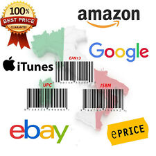 1000 EAN UPC Barcodes For All Marketplace Amazon Ebay Compatible Gs1 Worldwilde