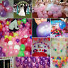 "100PCS HELIUM Pearlised Latex Balloons 10"" Wedding Birthday Party CHRISTENING UK"