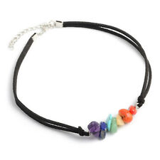 7 Color Beads Stone Chakra Choker Necklace Healing Gemstone Bracelet Jewelry