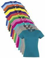 Femmes Été Poids Coton Col Rond T-Shirt