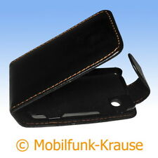 Flip Case Etui Handytasche Tasche Hülle f. Sony Ericsson TXT Pro (Schwarz)