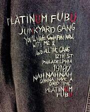 FUBU Platinum Black Denim Shorts Fat Albert Junkyard Gang 36W 100% Cotton Philly