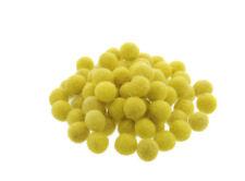 10 Perles Boules de Feutre Feutrine naturelle Ø 1 Cm Nepal Jaune