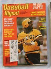 Dave Parker Pittsburgh Pirates December 1978 Baseball Digest