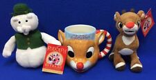 My FIrst Rudolph Mug The Red Nose Reindeer Ceramic Cup & Plush Sam & Rudolph 3Pc